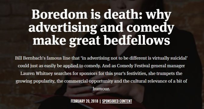 Advertising and Comedy 1